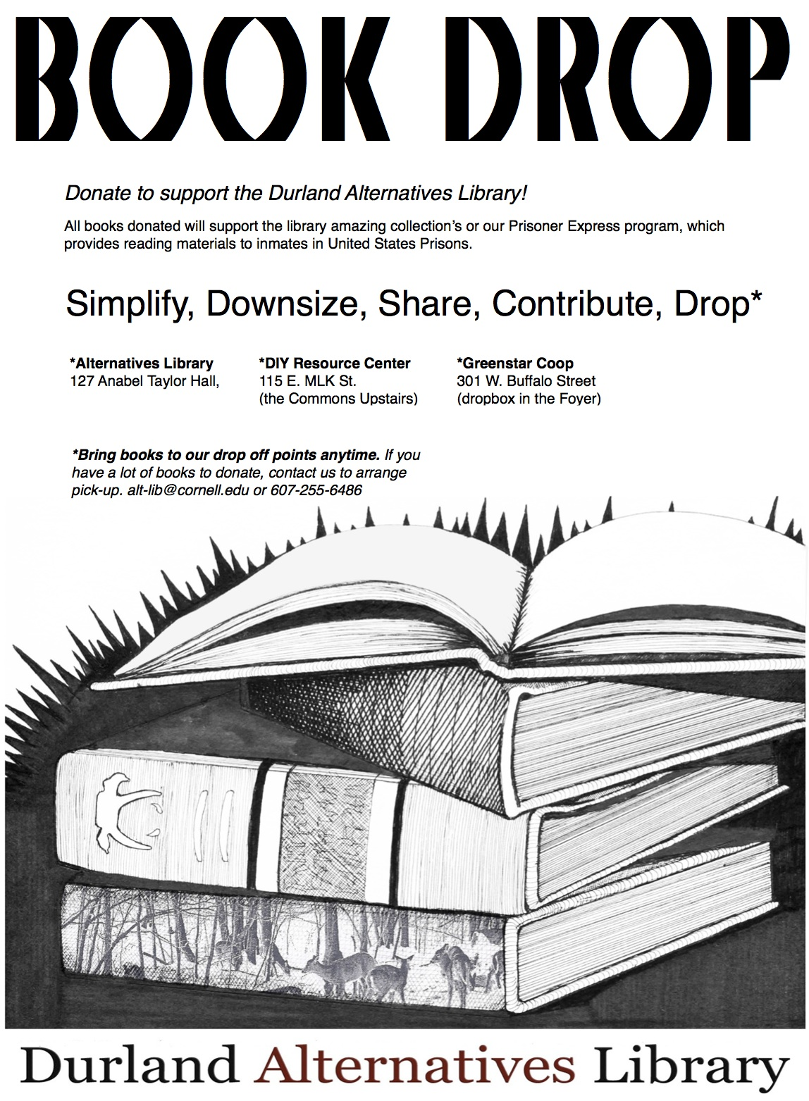 spring cleaning donate to the alternatives library